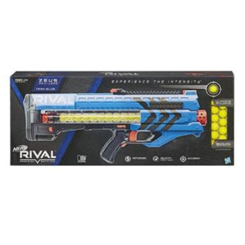 Hasbro Nerf Rival Zeus MXV-1200 Blaster Team Blue Motorized 12-Rounds Hasbro B1593000