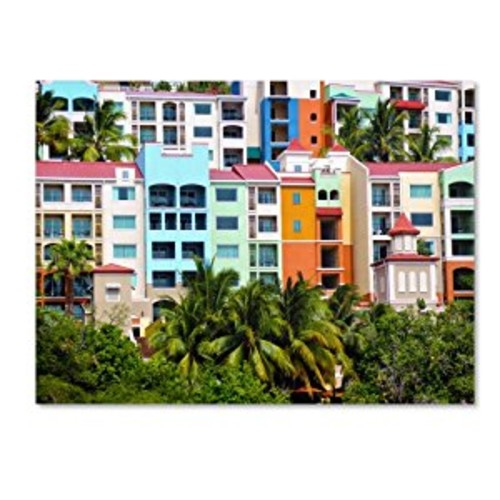 Virgin Islands 2 by CATeyes, 14 by 19-Inch Canvas Wall Art [14 by 19-Inch]