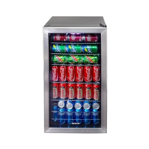 air AB-1200 126-Can Stainless Steel Beverage Cooler NAIAB1200