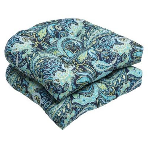 Pillow Perfect Outdoor Cushion Set - Blue/Green