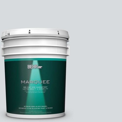 BEHR MARQUEE 5 gal. #PPU26-14 Drizzle Semi-Gloss Enamel Interior Paint