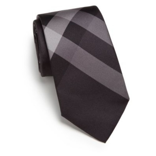 Smoked Check Silk Tie