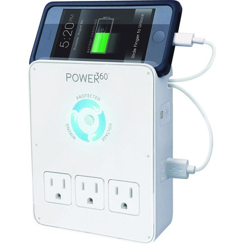 Panamax Power360 P360-Dock Space-saving surge protector with built-in USB charging