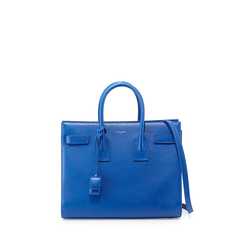 SAINT LAURENT Sac De Jour Small Satchel Bag, Cobalt