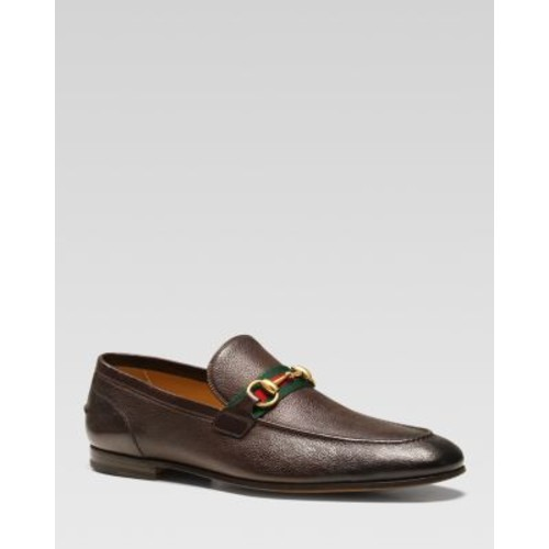 GUCCI Elanor Harness Over Web Loafers