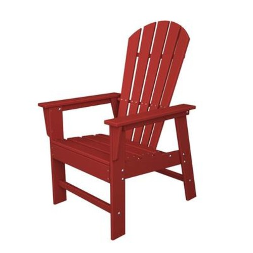 POLYWOOD SBD16SR South Beach Adirondack Sunset Red Dining Chair