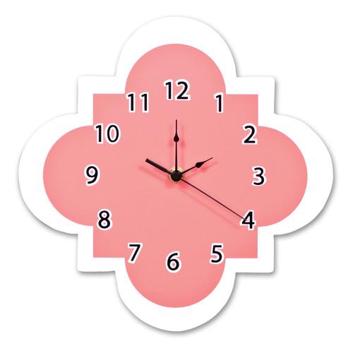 Trend Lab Coral Quatrefoil Wall Clock