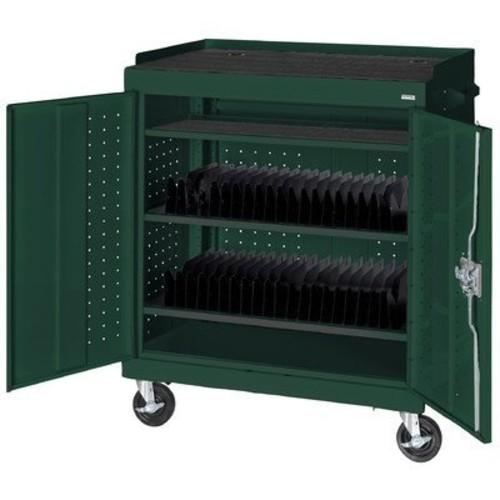 Mobile Tablet Storage Cart Color: Forest Green
