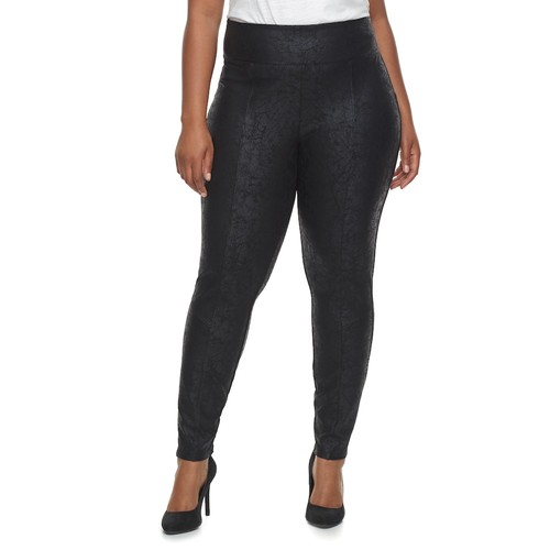 Plus Size Ribbed Leggings