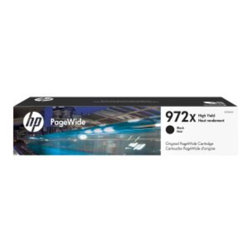 HP 972X - 182.5 ml - High Yield - black - original - PageWide - ink cartridge - for PageWide Pro 452dn, 452dw, 452dwt, 477dn, 477dw, 552dw, 552dwt, 577dw, 577z, MFP 477dwt