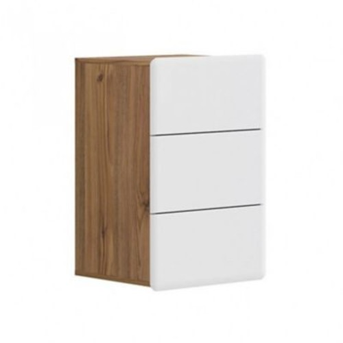 Contemp Style Possi 3 Drawer Accent Cabinet; Brown