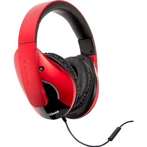 SYBA Multimedia Oblanc SHELL210 (Red/Black) Subwoofer Headphone w/In-line Microphone