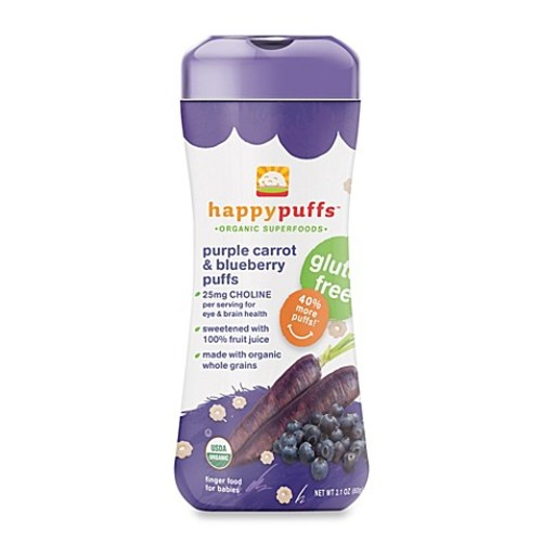 Happy Puffs Happy PuffsOrganic 2.1 oz. Puffs with Purple Carrot and Blueberry