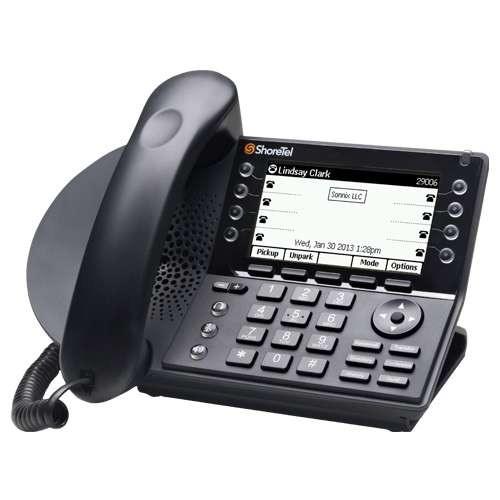 ShoreTel IP 480 Phone - 8 Lines, Full Duplex Speakerphone, Visual Voicemail, Built In Ethernet Switch, SIP Protocol, PoE Ports, 297x160 Backlit Display, Expanded Call History, LED Indicators  10496