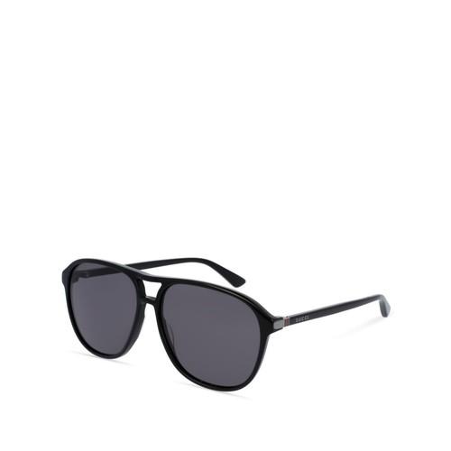 Polarized Brow Bar Aviator Sunglasses, 60mm