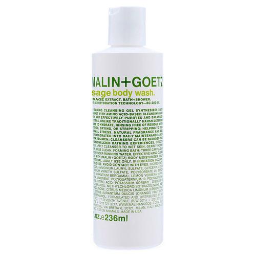 MALIN+GOETZ sage body wash [8 oz (237 ml)]