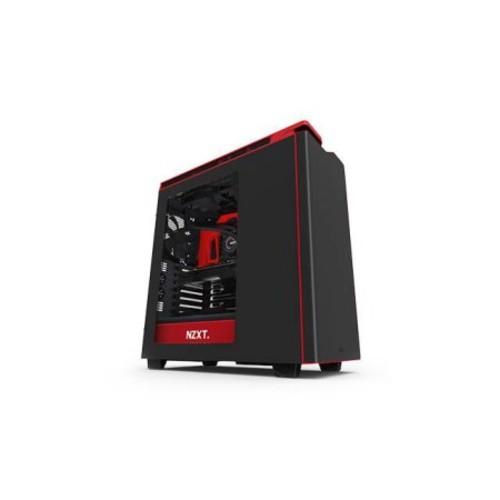 Nzxt 176414 Case H440 Atx Mid Tower No Power Supply 0/0/[11] Bay Usb 3.0 Black Red No Led Black Interior Window