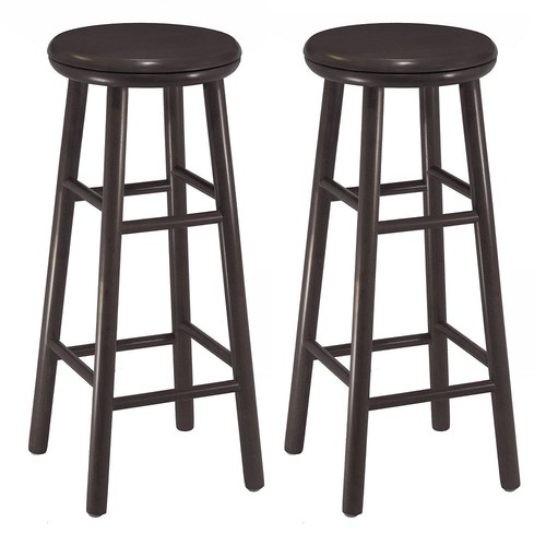 Winsome Wood 30-Inch Swivel Bar Stools, Dark Espresso Finish, Set of 2 [Espresso]