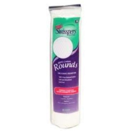 Swisspers Cotton Rounds 80 ea (Pack of 2)