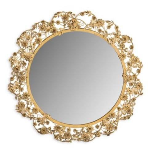 Safavieh Flora Mirror in Antique Brass