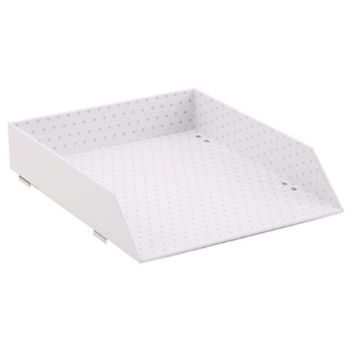 See Jane Work Stacking Letter Tray, Letter Size, White Dot