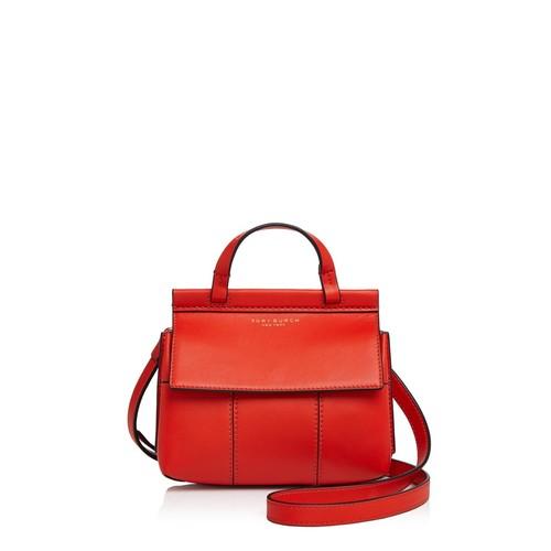 TORY BURCH Block-T Mini Leather Satchel