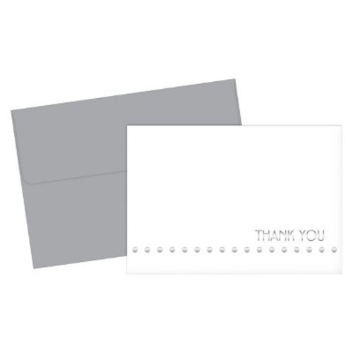 Silver Thank You Cards - 24 Count