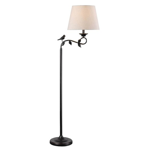 Kenroy Home 32613ORB Birdsong Swing Arm Floor Lamp, Oil Rubbed Bronze Finish with Gold Highlights [Oil Rubbed Bronze Finish With Gold Highlights]