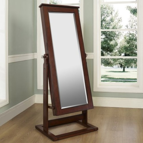 Powell Walnut Cheval Jewelry Wardrobe [Walnut, One Size]
