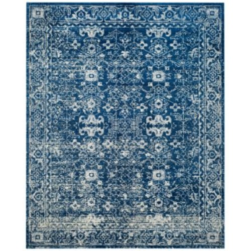 CLOSEOUT! Safavieh Evoke EVK270A Navy/Ivory 3' x 5' Area Rug