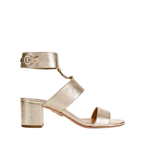 AQUAZZURA Safari Metallic Sandals