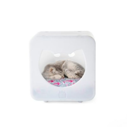 Kitty Kasa Cat Bed Cube in White