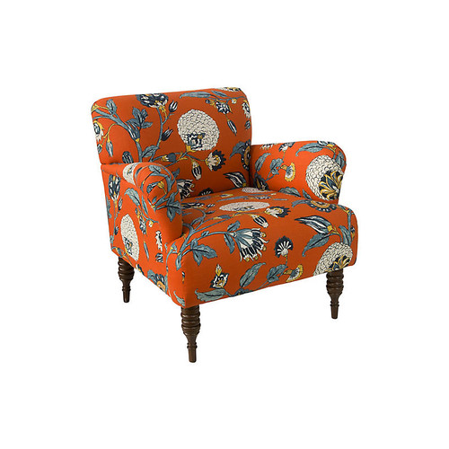 Tina Club Chair, Persimmon Floral