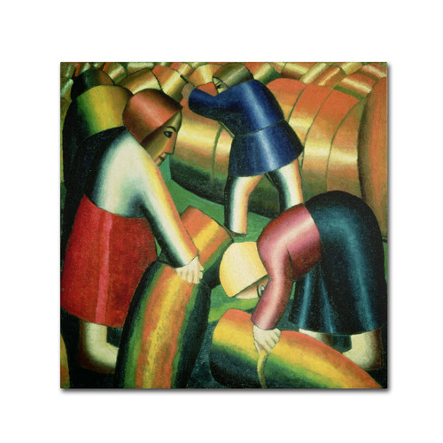 Trademark Global Kazimir Malevich 'Taking In the Rye' Canvas Art [Overall Dimensions : 24x24]