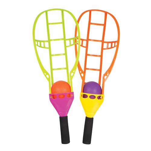 Toysmith Chuck 'n Catch Ball & Racket Game