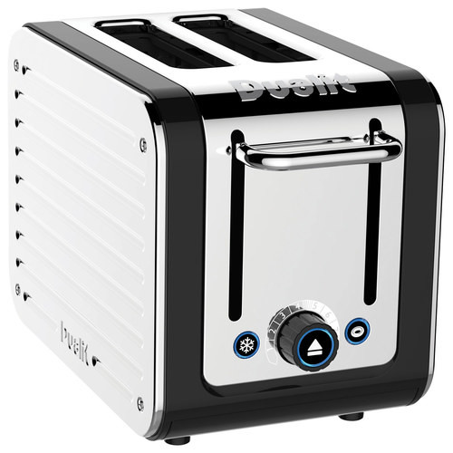 Dualit - Design Series 2-Slice Extra-Wide Slot Toaster - Black/Stainless Steel