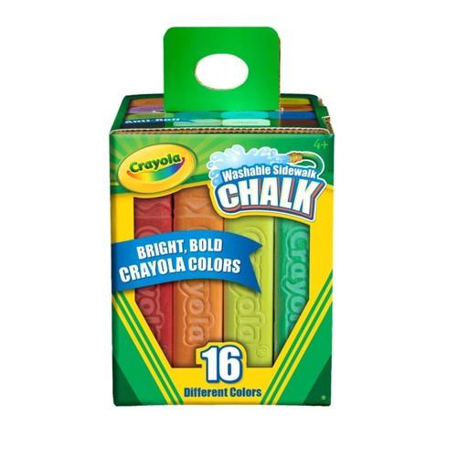 Crayola Sidewalk Chalk, Bucket Of 16
