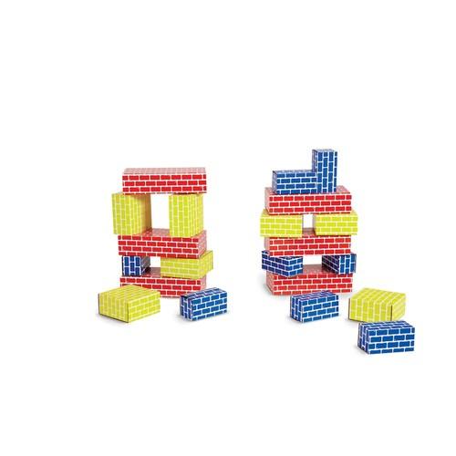 Edushape Corrugated Blocks, 52 Piece [52 Blocks]