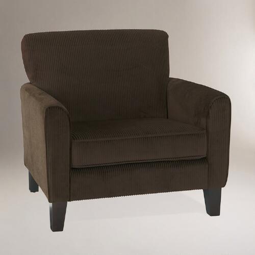 Coffee Corduroy Monroe Chair
