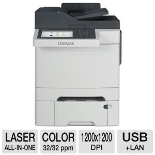 Lexmark CX510dthe 28E0550 MultiFunction Printer - Color Laser, 1200 x 1200 dpi, 32 ppm, Duplex Printing, Dual-Core 800MHz Processor, 1024MB Memory, USB, Ethernet, Scan, Copy, Fax