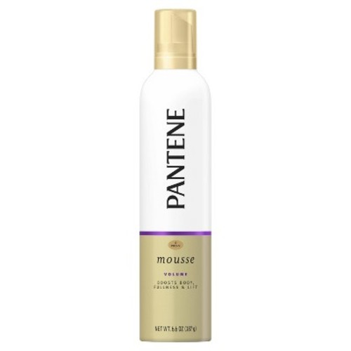 Pantene Pro-V Fine Hair Triple Action Volume Maximum Hold Mousse, 6.6 oz [6.6 Ounce, Style Series Volume Body Boosting Mousse]