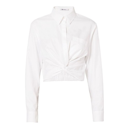 T BY ALEXANDER WANG Twist Detail Poplin Shirt