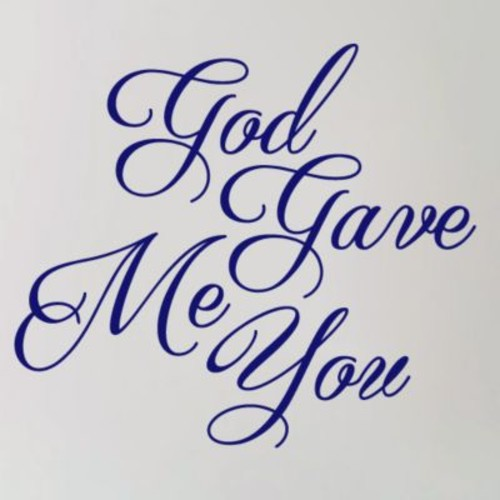 SweetumsWallDecals God Gave Me You Wall Decal; Navy