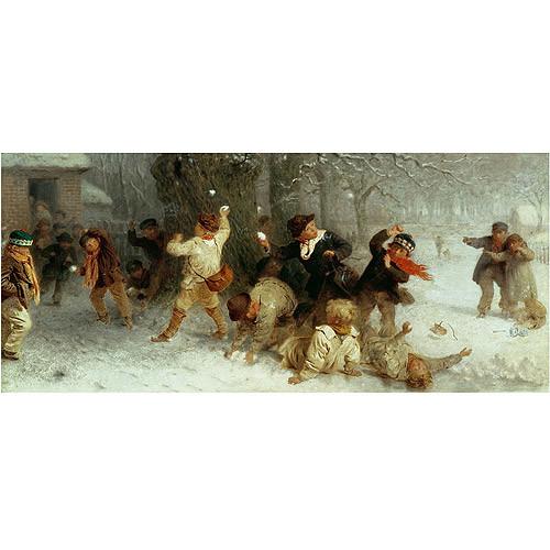 John Morgan Snowballing, 1865 Gallery-wrapped Canvas Art