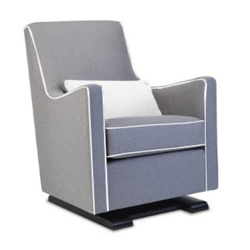 Luca Glider [Glider color\/Piping and Pillow Color : Pebble Grey\/Pebble Grey; Base Finish : Espresso]