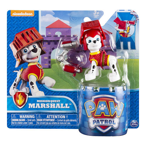 Nickelodeon Paw Patrol Hero Pup Mission Quest Figure - Medieval Marshall