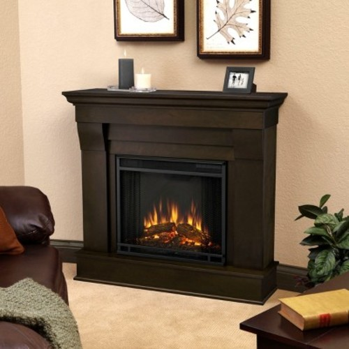 Real Flame - Chateau Electric Fireplace-Dark Walnut