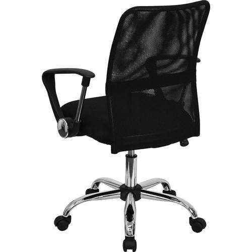 Flash Furniture Mid-Back Black Mesh Swivel Task Chair GO-6057-GG