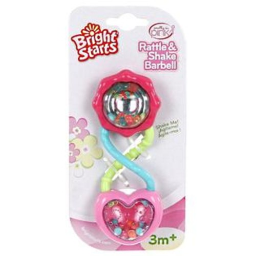 Bright Starts Pretty In Pink Rattle And Shake Barbell