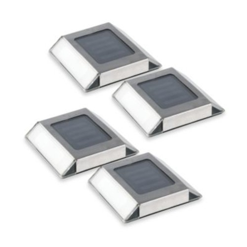 Solar Pathway LED Lights (Set of 4)